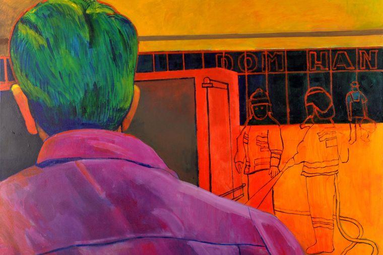 Fire, Fire!,  Pali się! Pali się!; 80 x 100 cm, 2011