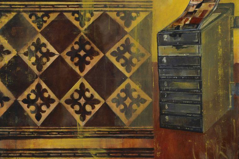 Mailbox,  Skrzynka Pocztowa; 100 x 120, 2007 ;120 x 100 cm, 2007